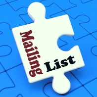 Mailing List Puzzle Showing Email Marketing Lists Online
